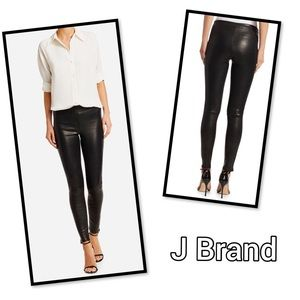 J Brand Lambskin Leather Leggings